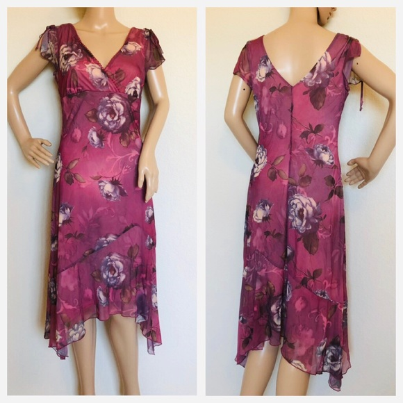 BYER TOO! Dresses & Skirts - BYER TOO floral print dress size large